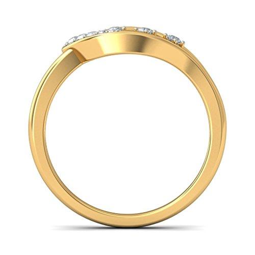 14K Or jaune, 0,08carat Diamant Blanc (IJ | SI) en diamant