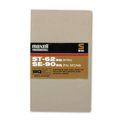 MAXELL ST-62 BQ Broadcast Quality S-VHS Videocassette (Discontinued by Manufacturer)