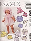 McCall's Pattern #5390 Infant's Sundresses, Panties and Hat