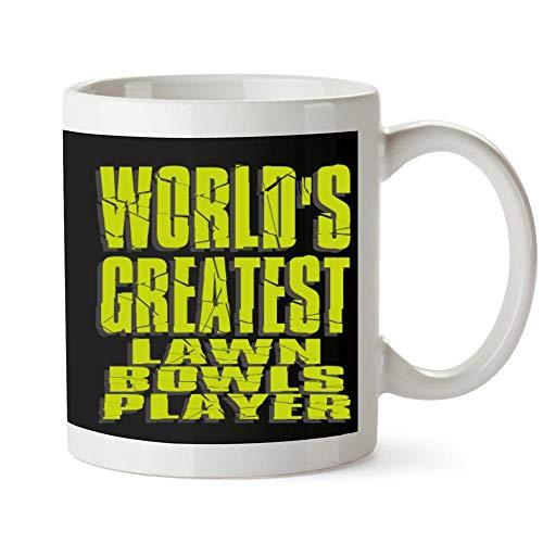 Idakoos WORLD GREATEST Lawn Bowls Player Mug 11 ounces