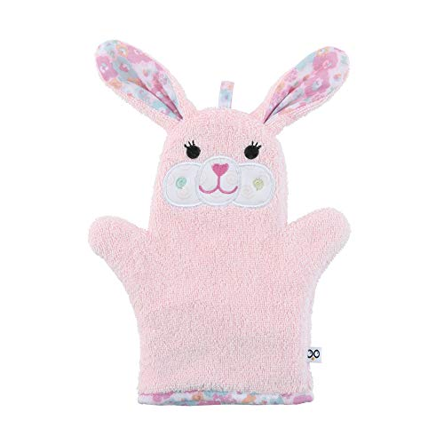 - ZOOCCHINI Baby Bath Mitt - Beatrice The Bunny, Ultra-Soft Washcloth Glove, 100% Cotton Snow Terry, Designed in The USA 1 Mitt/Pack ...