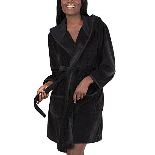 - Smart & Sexy Women's Super Soft Plush Wrap Robe, Black hue, M