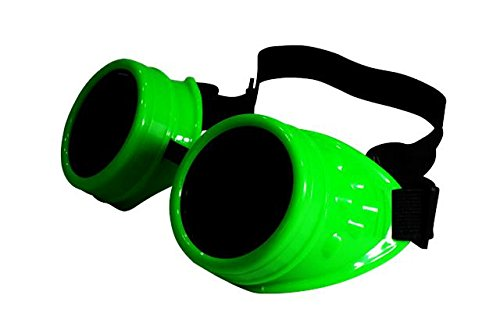 ASVP ShopSteampunk Goggles Cyber Welding Goth Cosplay Vintage Goggles Rustic Rave Party Fancy Dress Costume by ASVP (Cosplay Shop)