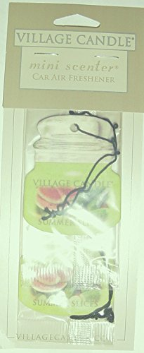 Village Candle Mini Scenter Car Candle Air Freshener Smmer Slices by Village Candle