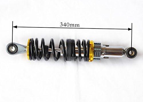Shiwaki Paire d/'Amortisseurs pour Moto 340mm Argent/é Noir 2X