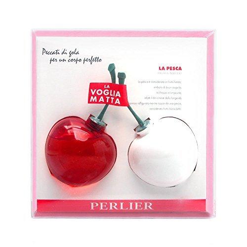 (Perlier Peach 2 Piece Set Includes: 5.0 oz Peach Bath & Shower Gel + 5.0 oz Peach Body Moisturizing Milk)