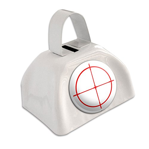 Sniper Scope Sight Target White Cowbell Cow Bell