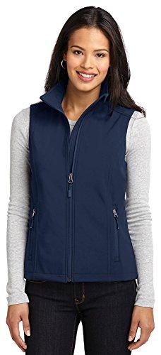 Port Vest Authority Womens (Port Authority Ladies Core Soft Shell Vest, Dress Blue Navy, X-Large)