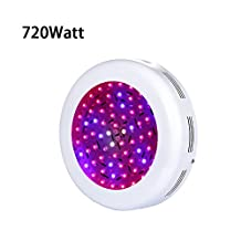 TOPL 720W UFO LED Grow Light with UV / IR - Full Spectrum Double Chips Plant Lamp for Greenhouse and Indoor Plant Flowing Growing