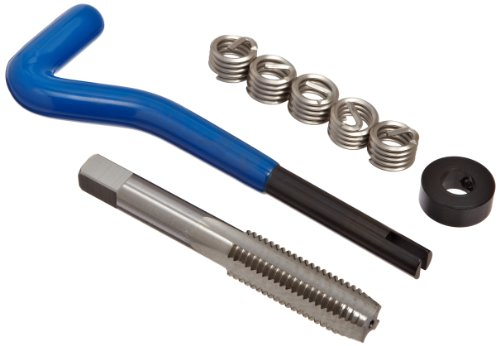 E-Z Lok EK21110 Helical Threaded Insert Kit, 304 Stainless Steel, 7/16''-14 Thread Size, 0.438'' Installed Length (Pack of 5) by E-Z LOK