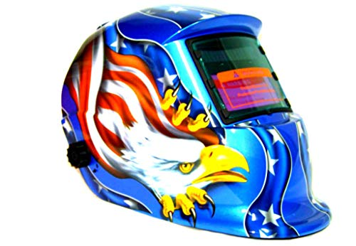 KCHEX>STARS EAGLE AUTO DARKENING WELDING HELMET MASK WELDER MMA MIG MAG TIG PLASMA ARC>MIG ARC TIG ROD WELDER MOULDED POLYCARBONATE CONSTRUCTION IN FULL CONFORMITY WITH CE AND ANSI OUTSIDE SHADE