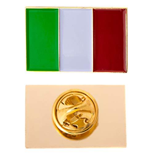 Desert Cactus Italy Country Rectangle Flag Lapel Pin Enamel Made of Metal Souvenir Hat Men Women Patriotic Italian (Rectangle Pin) ()