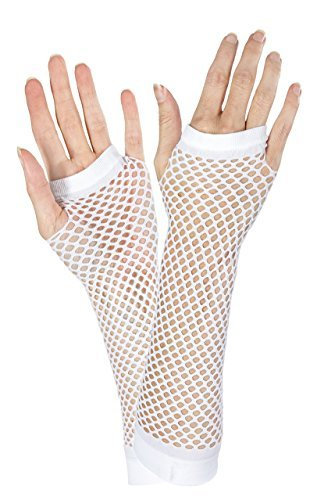 Amscan White Fishnet Long Gloves