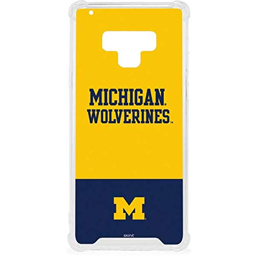 Skinit Michigan Wolverines Split Galaxy Note 9 Clear Case - Skinit Clear Case - Transparent Galaxy Note 9 Cover