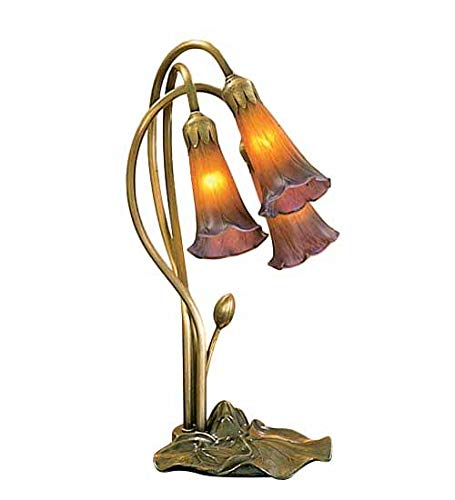 Meyda Tiffany 13674 Pond Lily 3 Light Accent Lamp, 16