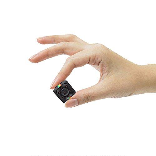 threecat Mini cámara espía oculta visión nocturna grabadora de vídeo HD de 1080p portátil tiny con visión nocturna y...