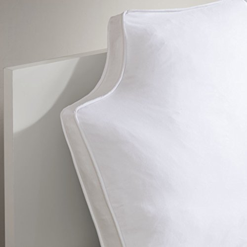 "Intelligent Design Oversized 100% Cotton Canvas 1 Piece Headboard Pillow Cushion for Bed, 34"" W x 26"" L x 2"" D Inches, White"