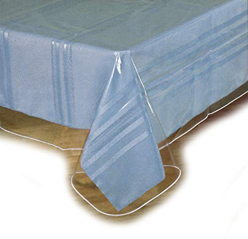 SOFINNI Clear Plastic Tablecloth Protector, Table Cloth Vinyl