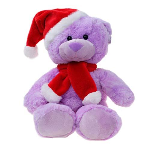WILDREAM Purple Christmas Teddy Bear Plush