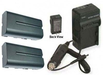 2電池+充電器for Sony dcr-trv420、Sony trv5、Sony trv510、Sony trv520、Sony trv525、Sony trv620、Sony trv7   B01DNABKPM