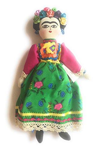 Frida Kahlo - Mexican Handmade - Frida Doll (Green - Doll Frida Kahlo