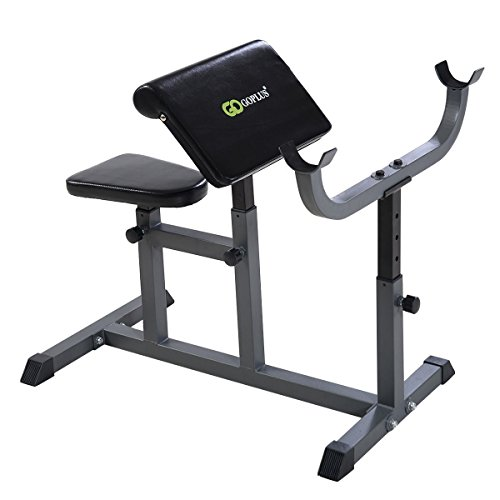 Apontus Adjustable Commercial Preacher Arm Curl Weight Bench by Apontus