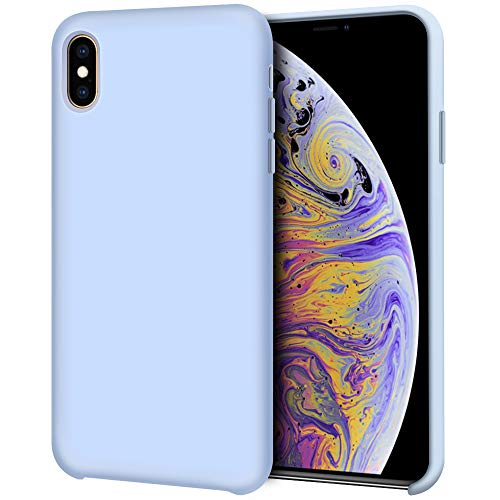 Anuck iPhone Xs Max Case, Non-Slip Soft Silicone Case Gel Rubber Bumper Microfiber Lining Cushion Hard Shell Drop Protection Shockproof Slim Protective Case Cover for iPhone Xs Max 6.5