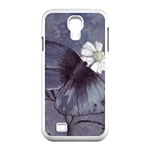 butterfly painting Samsung Galaxy S4 9500 Cell Phone Case White PSOC6002625637900