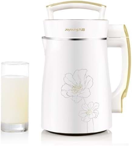 BONUS PACK! Joyoung DJ13U-D08SG Easy-Clean Automatic Hot Soy Milk Maker (Full Stainless Steel Design) with FREE Soybean Bonus Pack