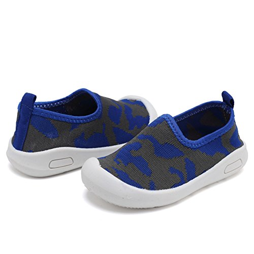 CIOR Kids Slip-on Casual Mesh Sneakers Aqua Water Breathable Shoes For Running Pool Beach (Toddler / Little Kid) SC1599 Blue 19 4
