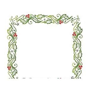 alfombrilla de ratón Navidad, marco, acebo, ILIX - rectangular - 23cm x 19 cm