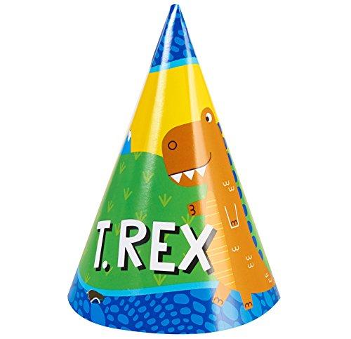 BirthdayExpress T-Rex Dinosaur Party Supplies - Cone Hats (8)