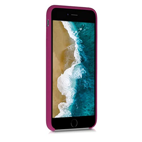 kwmobile TPU Silicone Case Compatible with Apple iPhone 6 Plus / 6S Plus - Soft Flexible Rubber Protective Cover - Pomegranate Red