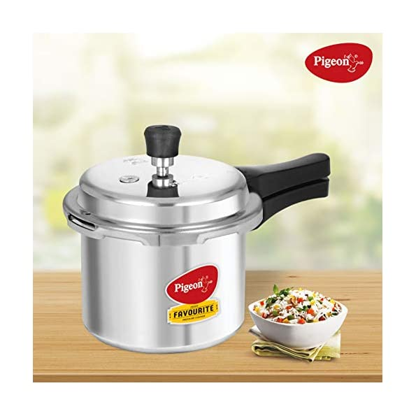 Pigeon-By-Stovekraft-Favourite-Induction-Base-Aluminium-Pressure-Cooker-with-Outer-Lid-3-Litres-Silver