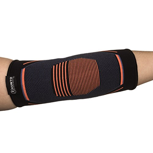Kunto Fitness Elbow Brace Compression Support Sleeve for Tendonitis, Tennis Elbow, Golf Elbow Treatment – Reduce Joint Pain During Any Activity! (Small) by Kunto Fitness Products (Image #4)