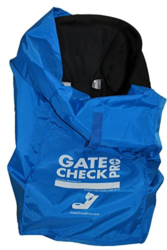 Gate Check PRO | Bolso de viaje para silla de coche | Nailon balistico ultrarresistente | Talla unica | Perfecto para modelos Grupo 0-3, Alzadores incluido | Calidad imerjorable de la marca lider