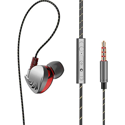 in-Ear Earbud Headphones, Super Bass Earphones, Race Sport Headset,with Mic 3.5mm HiFi for Cell Phone(Black) Dynamic Crystal Clear Sound, Ergonomic Comfort-Fit (Black) (Team Pro Race Dynamics)