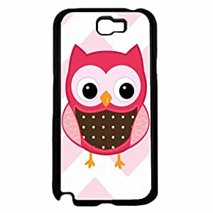 Pink Owl Plastic Phone Case Back Cover Samsung Galaxy Note II 2 N7100