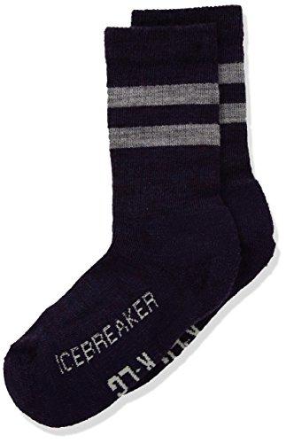 (Icebreaker Merino Kids' Hiking Crew Socks, New Zealand Merino Wool, Burgundy Silk Heather, Large)