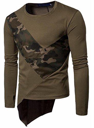 Patchwork Asimmetrici Girocollo Hop shirt 1 Camo uk T Hip Mens Top Oggi WnY10q