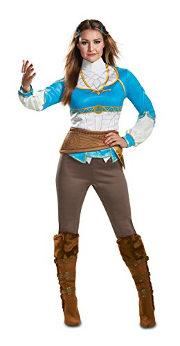 Disguise Women's Zelda Breath of The Wild Adult Costume, Blue, L (12-14)