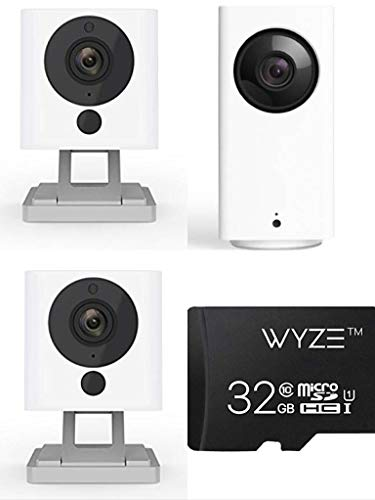 Wyze Cam Whole Home Starter Kit - two Wyze Cam v2, one Wyze Cam Pan and one 32GB MicroSD Card