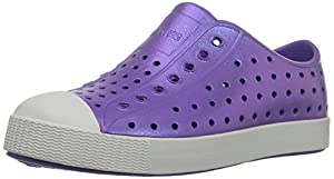 Native Jefferson Slip-On Sneaker,Techno Purple Iridescence,8 M US Toddler