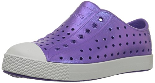 Native Jefferson Slip-On Sneaker,Techno Purple Iridescence,5 M US Toddler (Run Techno)