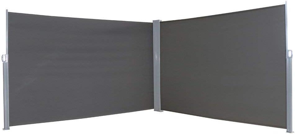 MCTECH 1.6X3m Frangivento Tenda Da Sole Laterale Avvolgibile a Rullo Estensibile Paravento