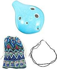 ARTIBETTER Conjunto 1 6 Buraco Ocarina para Crianças Iniciantes Inclui Colhedor E Saco de Plástico Alto Ocarin