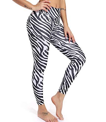 FITTOO Women's Yoga Pants Sport Pants Workout Leggings Sexy High Waist Trousers Zebra Print(M) (Zebra Yoga Pants)