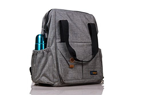 INTRODUCTORY OFFER :::SwaLyn Multi-function Baby Diaper Backpack with Stroller Straps, Changing Mat & Wet Bag. Unisex, Waterproof, Multi-Pocket