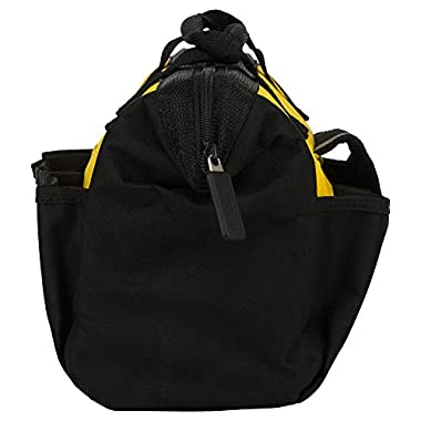 STANLEY STST512114 12'' Multipurpose Tools Storage Water Proof Open Mouth Bag (Yellow-Black) 12