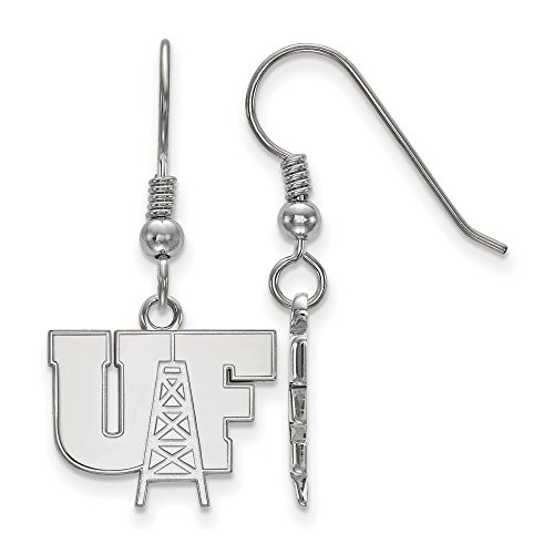 925 Sterling Silver Officially Licensed University College of Findlay Small Dangle Wire Earrings by Mia Diamonds and Co.